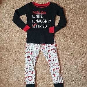 Carter's size 5 Christmas graphic pajamas set